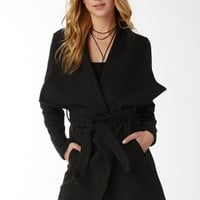 City Chic Open Wool Trench Coat