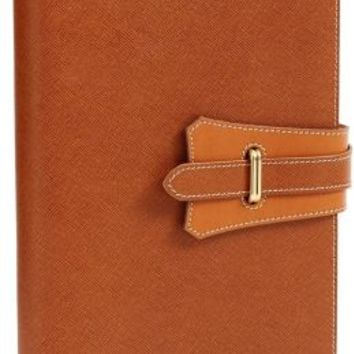 Borsa Tan with Snap Leather Journal 6'' x 8''