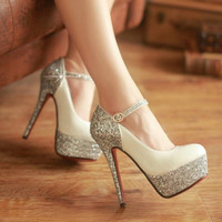 Fashion  shining diamond heels 6847MM