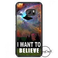 I Want To Belive X File Movie Nebula Space HTC One M10 Case