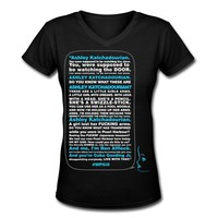 MPGiS - Speech Women's V-Neck T-Shirt, L, black