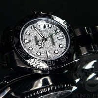 Black ROLEX GMT Master II KingsLife Limited Edition Diamond Pave Dial DLC / PVD