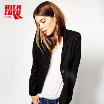 Slim Long Sleeve Button Business Casual Suit a13221