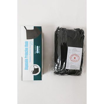 Disposable Face Mask 50 Count Black