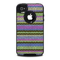 The Colorful Knit Pattern Skin for the iPhone 4-4s OtterBox Commuter Case