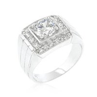 Pave Mens Cubic Zirconia Ring, size : 13