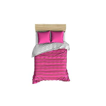 Stripes Lime Green and Pink Small Comforter