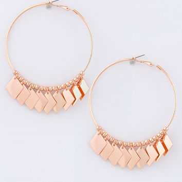 Metal Kite Dangle Hoop Earrings