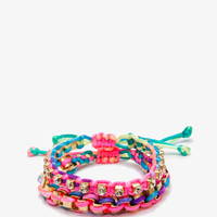 Multicolored Twisted Rope Bracelet