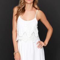 Curtsy Call Ivory Lace Dress