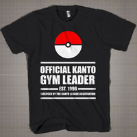 Gym Leader Main Pokemon  Mens and Women T-Shirt Available Color Black And White