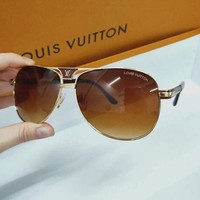 Louis Vuitton LV Popular Women Men Summer Sun Shades Eyeglasses Glasses Sunglasses I