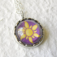 Rapunzel's Sun Petite Disney Necklace - Inspired by Disney's Tangled