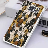 Social Pug Dog Collage Samsung Galaxy S3 S4 S5 S6 S7 Case