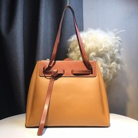 Kuyou Gb59717 Loewe Lazo Brown Leather Handbag 32*13*28cm