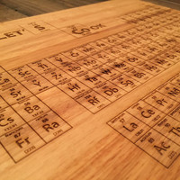 SALE! Breaking Bad Periodic Table Cutting Board - Laser Engraved - Science Art, Engraved Wood Kitchen Decor, Geekery, Let's Cook