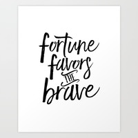 FORTUNE FAVORS The BRAVE, French Quote,French Saying, French Print,Motivational Poster,Inspirational Art Print by Printable Aleks