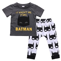born Infant Baby Boys Short Sleeve T-shirt Tops+ Pants Outfits Clothes Set