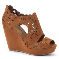New Look Mobile | Tan Cut Out Cage Wedges