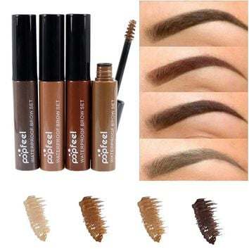 2017 Popfeel Brand Makeup Long-lasting 4 Colors Eyes Paint Brows Tint Henna Brown Waterproof Eyebrow Enhancer Mascara Makeup