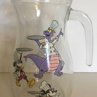 Disney 2018 Food and Wine Festival Passholder Figment Glass Pitcher New