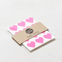 Knot & Bow Heart Stickers, Neon Pink | American Eagle Outfitters