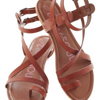 Fashionable Forum Sandal in Earth | Mod Retro Vintage Sandals | ModCloth.com