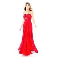 My Michelle® Strapless Pleated Dress