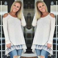 Womens Long Sleeve Casual Summer Cotton Blouse.