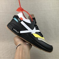 Nike Air Max 1 X Off-White Black Running Shoes - Best Deal Online
