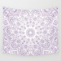 Purple Lotus Mandala Tapestry Wall Hanging Meditation Yoga Grunge Hippie