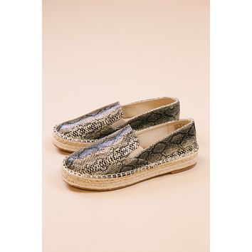 Peaches Espadrille Flat, Natural Snake | Coconuts by Matisse