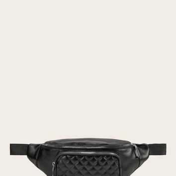 PU Quilted Bum Bag