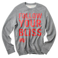 Red Follow Your Bliss Crew Neck Sweater