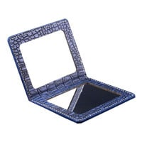 Portable Folding Makeup Cosmetic Folding Travel Handy Compact Mirror, Blue
