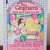 The Ginghams Paper Doll Carrie's Birthday Party