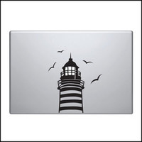 Decal for Macbook Pro Sticker Vinyl lamp bulb air funny mac 13 15 17 lighthouse
