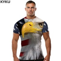 American Flag T Shirt with Eagle