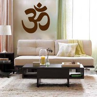 OM live well yoga peaceful ohm vinyl Wall DECAL by EyvalDecal