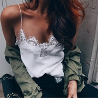 Hot Sexy Beach Summer Stylish Comfortable Bralette Lace Spaghetti Strap Vest [9643029007]