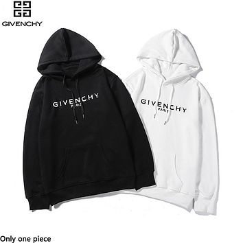 Givenchy sells fashionable casual hoodies with printed logos