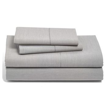 Nordstrom at Home 400 Thread Count Flat Chambray Sheet,