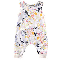 Sleeveless Infant Summer Girls Clothing Flower Baby Rompers Jumpsuits