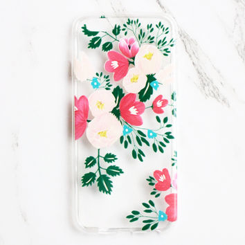 Clear Floral iPhone Case