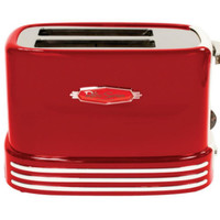 Retro Series 50's Style 2-Slice Toaster in Red Large Toasting Slots with Defrost
