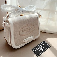 Prada canvas bag perfect bag classic and fashion shoulder bag White