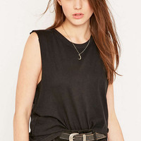 BDG Black Acid Muscle Tank Top - Urban Outfitters