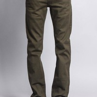 Men's Slim Fit Colored Jeans (Olive)