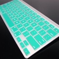 Topcase Silicone Cover Skin for Apple Wireless Keyboard with Topcase Mouse Pad (Apple Wireless Keyboard, AQUA BLUE) (Not for Apple Magic Keyboard)