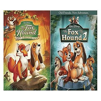 Walt Disney's The Fox and the Hound 1&2 DVD Set 2 Movie Collection